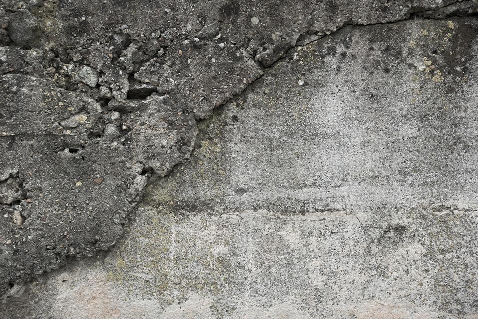 wall, concrete, brittle