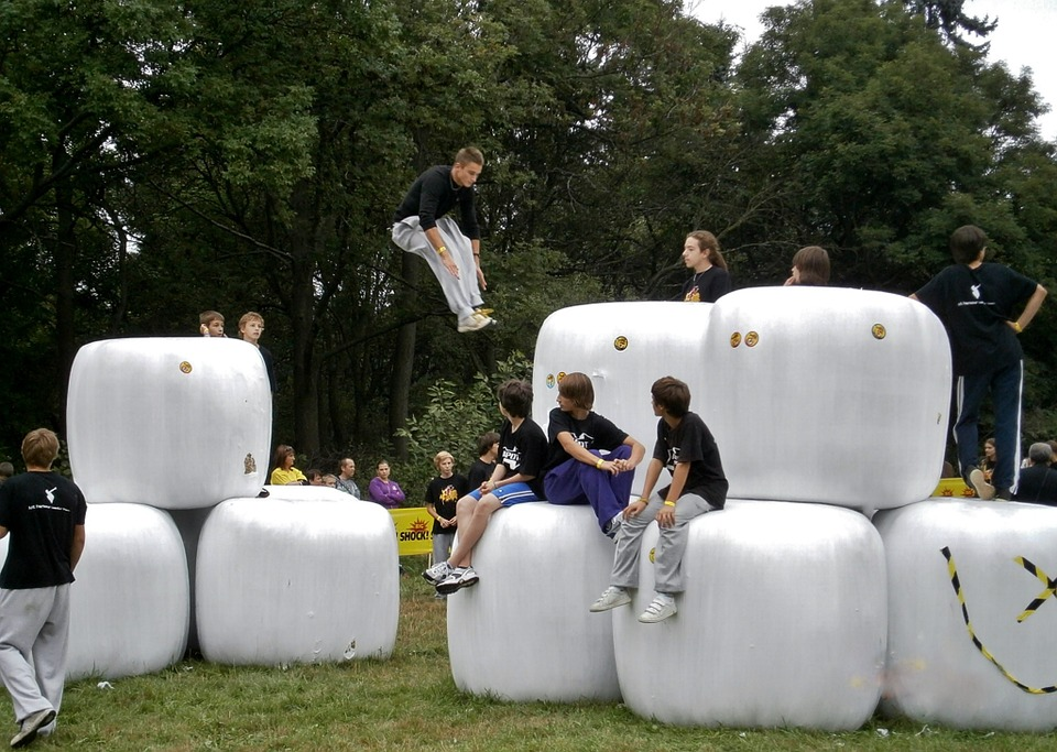 parkour, jump, sport